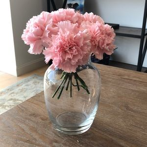 Crate and Barrel angled glass vase